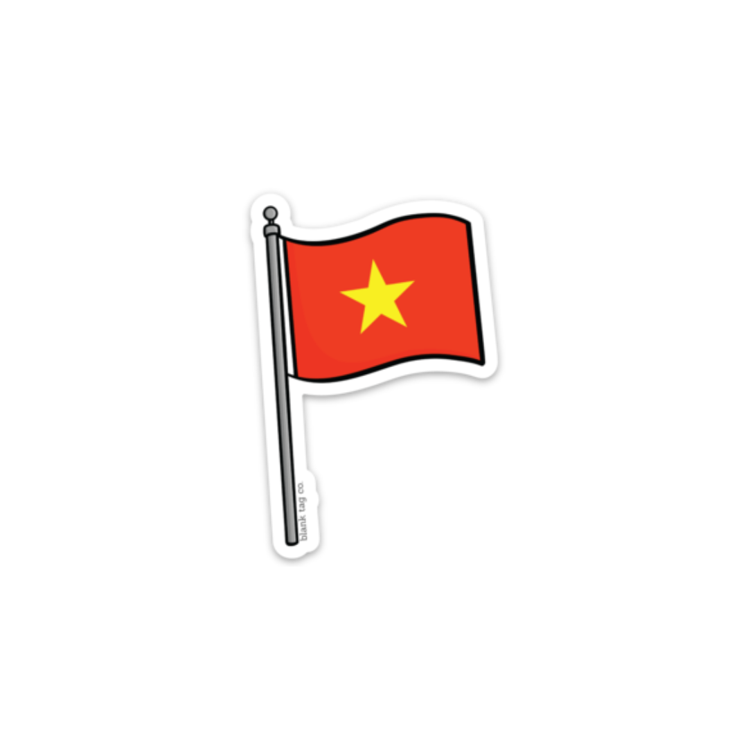 Asian Flag Stickers