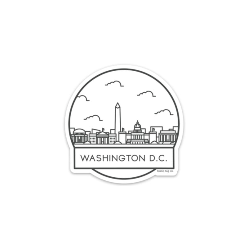 The Washington D.C. Cityscape Sticker