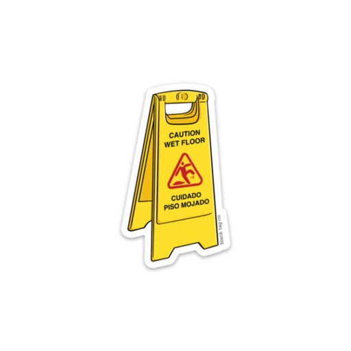 The Wet Floor Sign Sticker