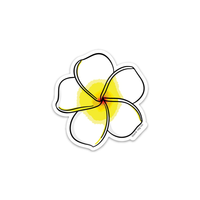 The Plumeria Sticker