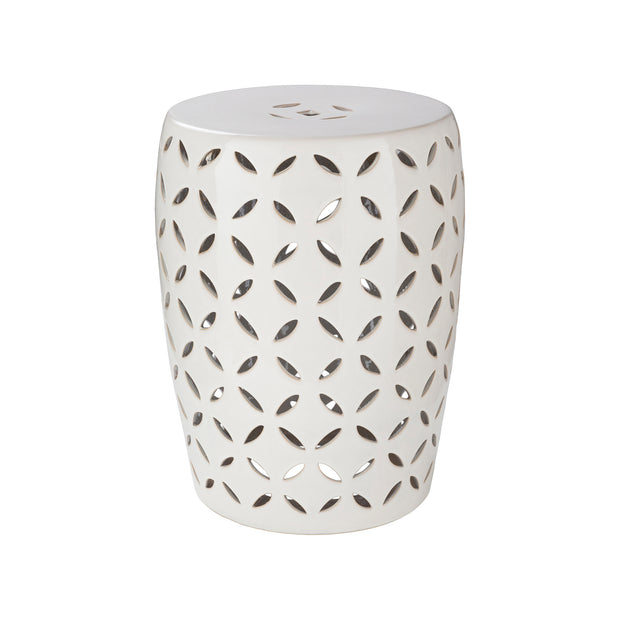 Chantilly Garden Stool in White