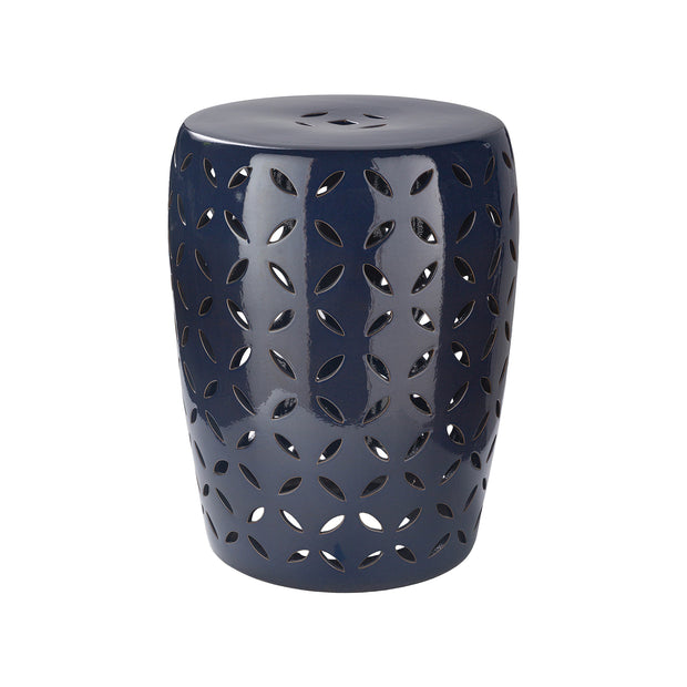 Chantilly Garden Stool in Navy