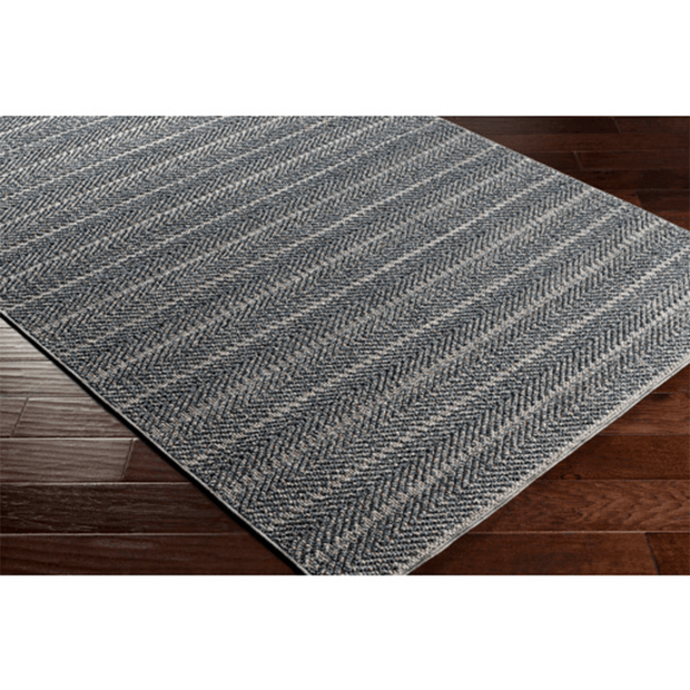 Ariana Rug in Charcoal Stripe