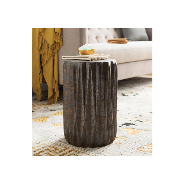 Aynor Garden Stool in Metallic