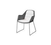 Breeze Cane-line Weave Stackable Dining Chair with Sunbrella© Cushion