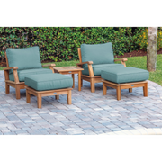 Miami 5-Piece Club Chair Set with Sunbrella Cushions