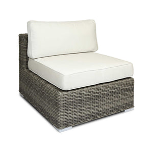 woven outdoor modern armless chair