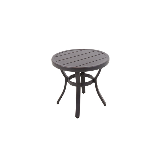Embossed Wood Grain Slat Side Table