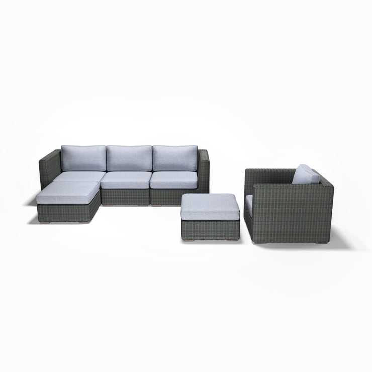 6-Piece Chaise, Club Chair, and Ottoman Set