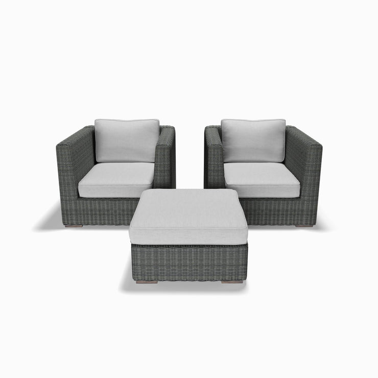 3-Piece Club Chair and Ottoman Set