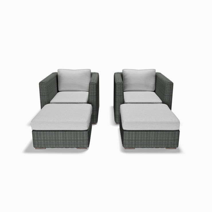 4-Piece Club Chair and Ottoman Set