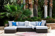 Lux 3-Piece U-Sectional, All-Weather Wicker with Sunbrella Cushions