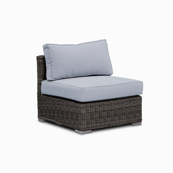 Lux Armless Chair, All-Weather Wicker with Sunbrella Cushions