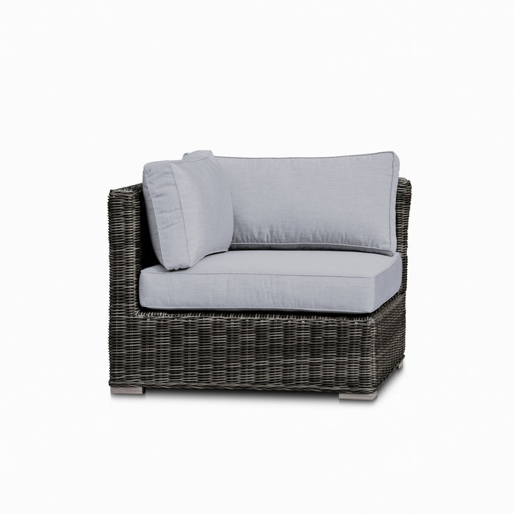 Lux Corner Chair, All-Weather Wicker with Sunbrella Cushions