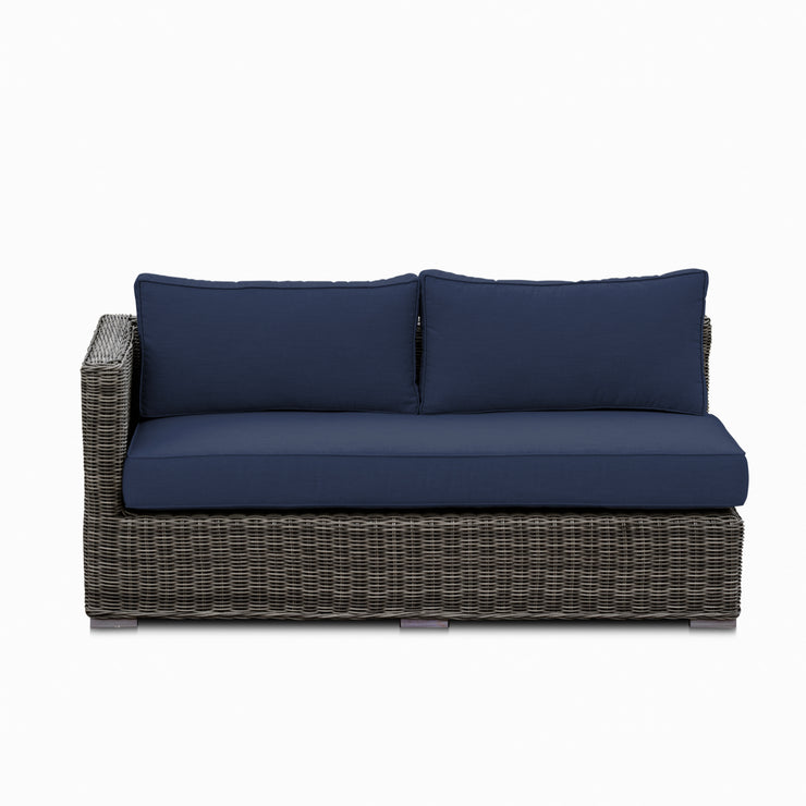 Lux Loveseat, All-Weather Wicker with Sunbrella Cushions