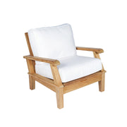 Miami 4-Piece Teak Conversation Set with Sunbrella Cushions