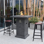 Montreal Bar Table with Fire