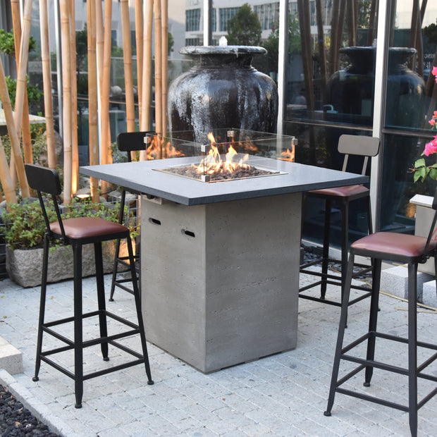 Alps Bar Table with Fire