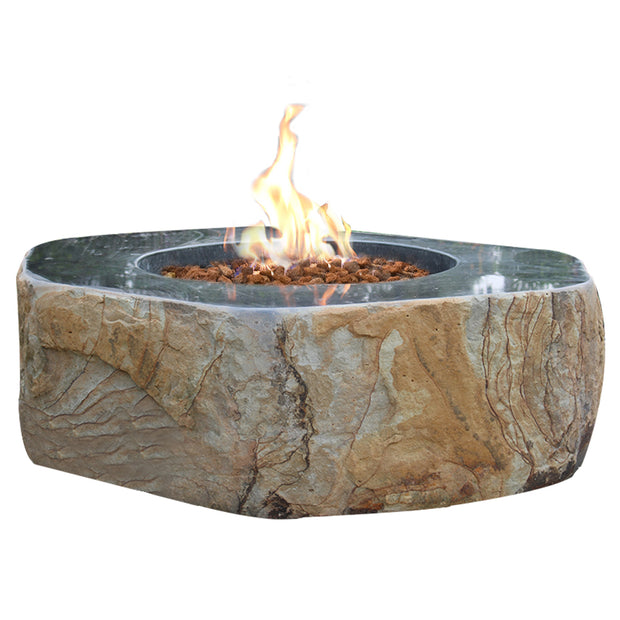 Brooklyn Basalt Table with Fire