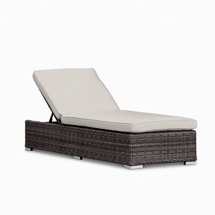 (Set of 2) Ajna Reclining Chaise Lounge, All-Weather Wicker with Sunbrella Cushions