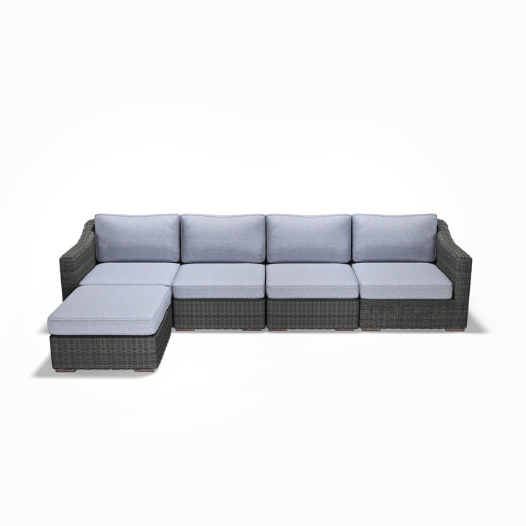 4-Seat Chaise Sofa (Sloped Arms)