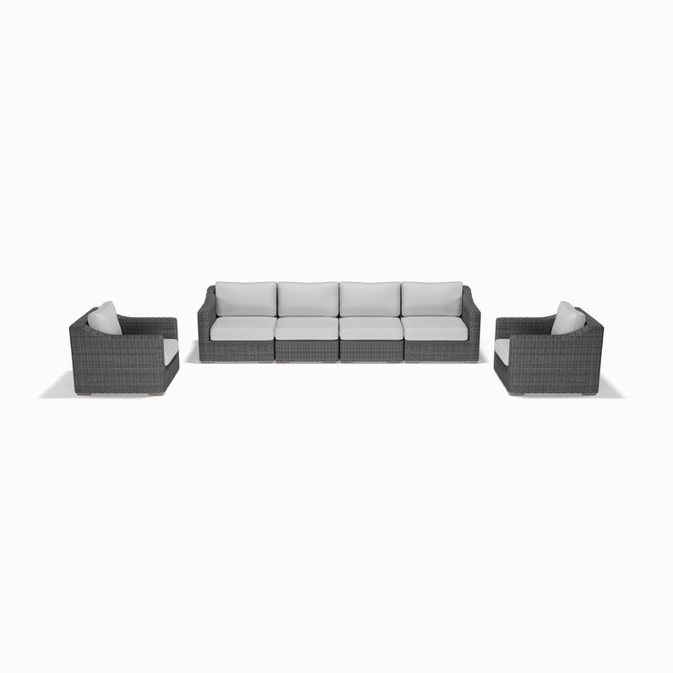 6-Piece Sofa and Club Chair Set (Sloped Arms)
