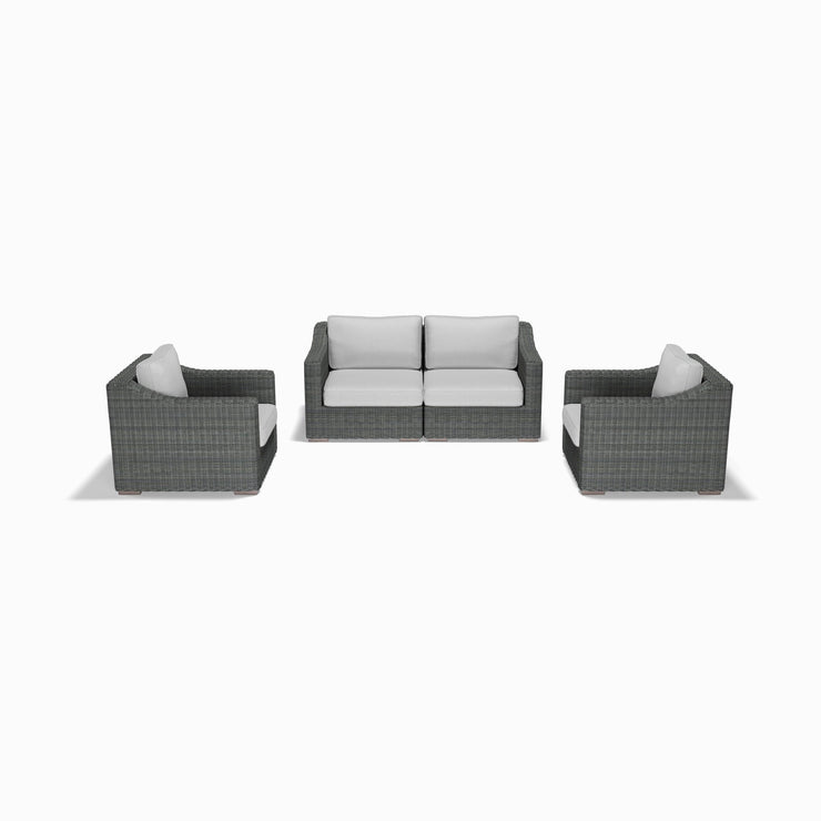 4-Piece Loveseat and Club Chair Set (Sloped Arms)
