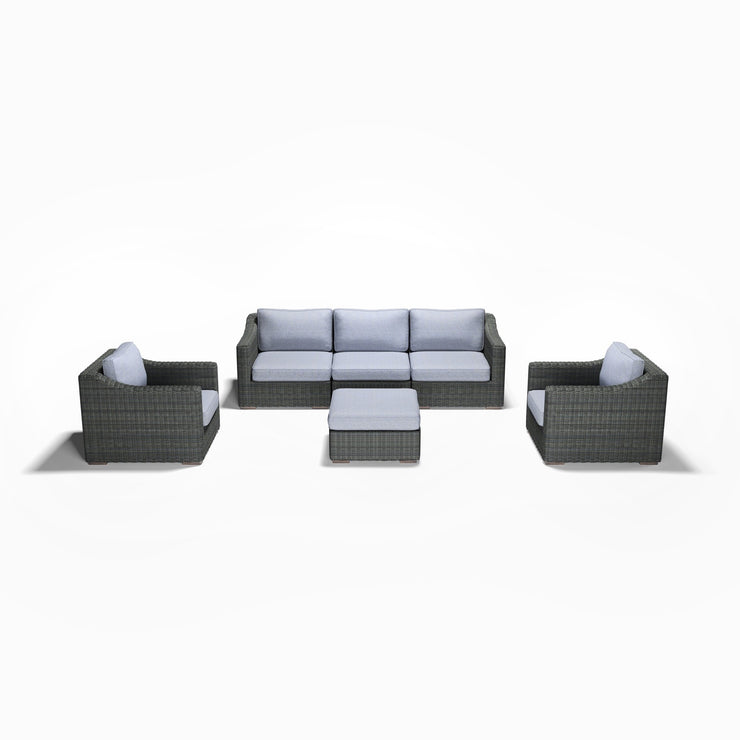 6-Piece Sofa, Club Chair, and Ottoman Set (Sloped Arms)