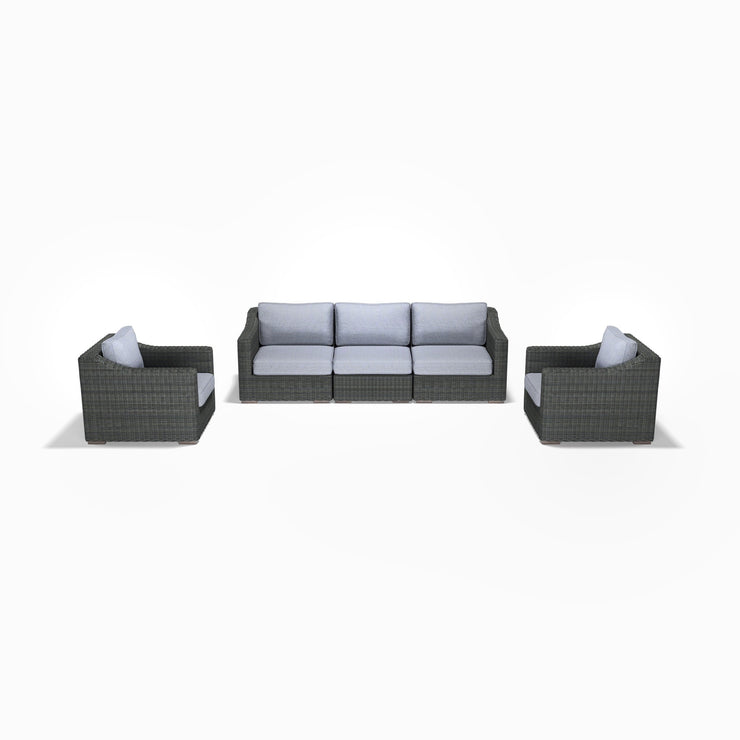 5-Piece Sofa and Club Chair Set (Sloped Arms)