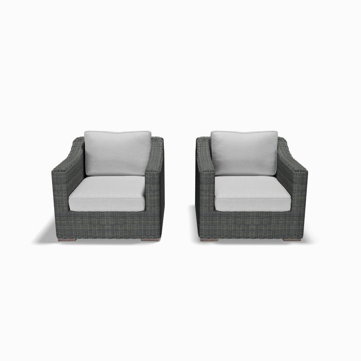 Club Chair Set (Sloped Arms)