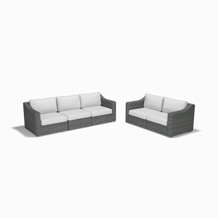5-Piece Sofa and Loveseat Set (Sloped Arms)