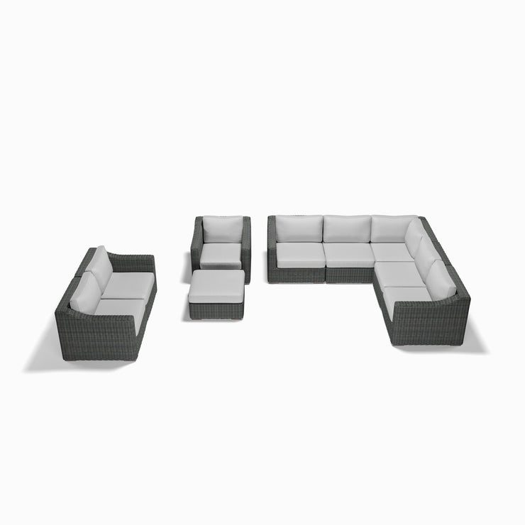 9-Piece Grand Sectional Set (Sloped Arms)