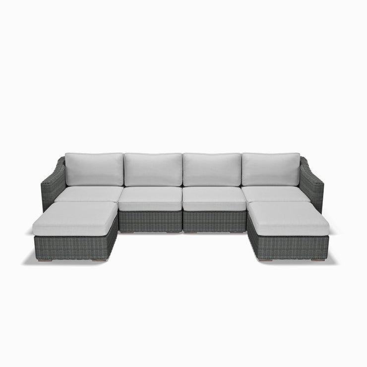 6-Piece U-Sectional (Sloped Arms)