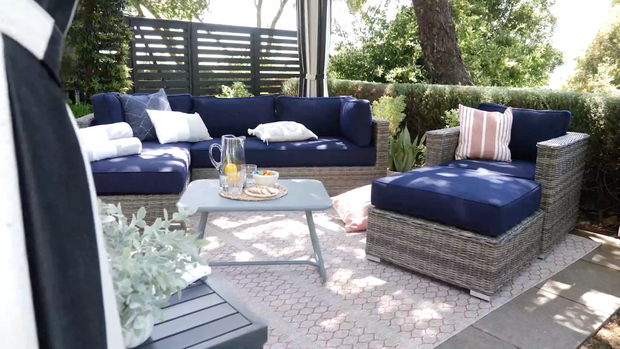 The Icon - Sunbrella© Outdoor Sofa Set - 4 pieces