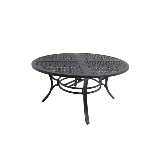 Seville Cast Top Quatrefoil Dining Table - Round