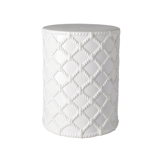 Gaylor Garden Stool in White