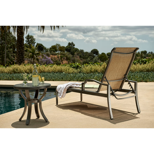 Aragon Adjustable Sling Chaise Lounge