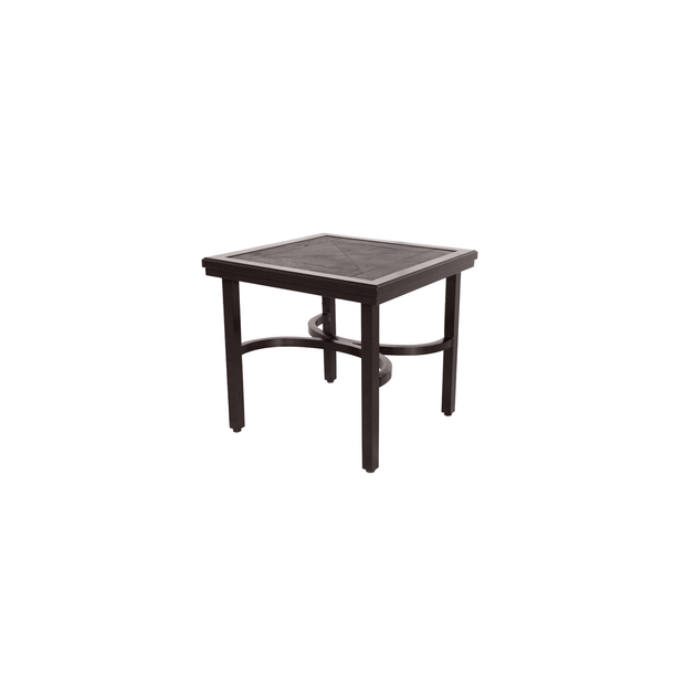 Fauxwood Square Side Table