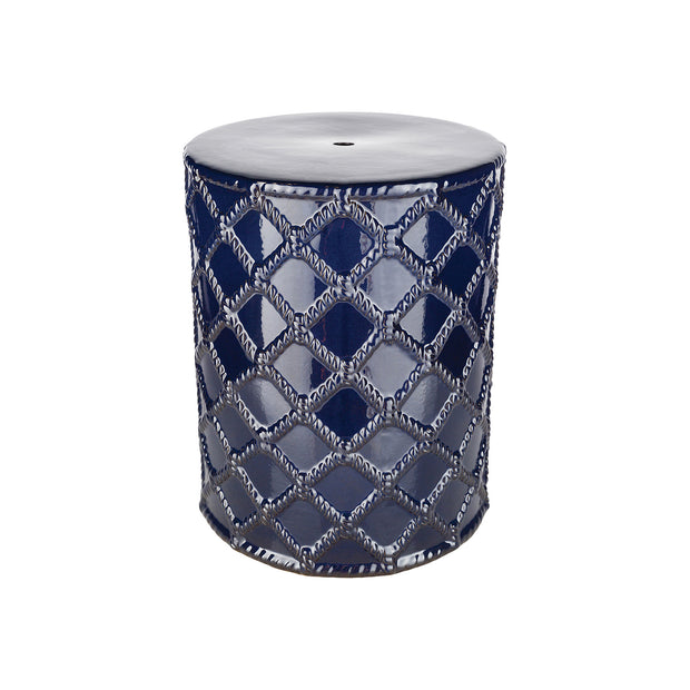 Gaylor Garden Stool in Navy