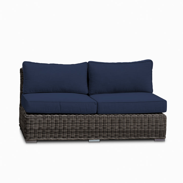 Villa Loveseat, All-Weather Wicker with Sunbrella Cushions
