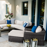 Villa Sectional, All-Weather Wicker with Sunbrella Cushions