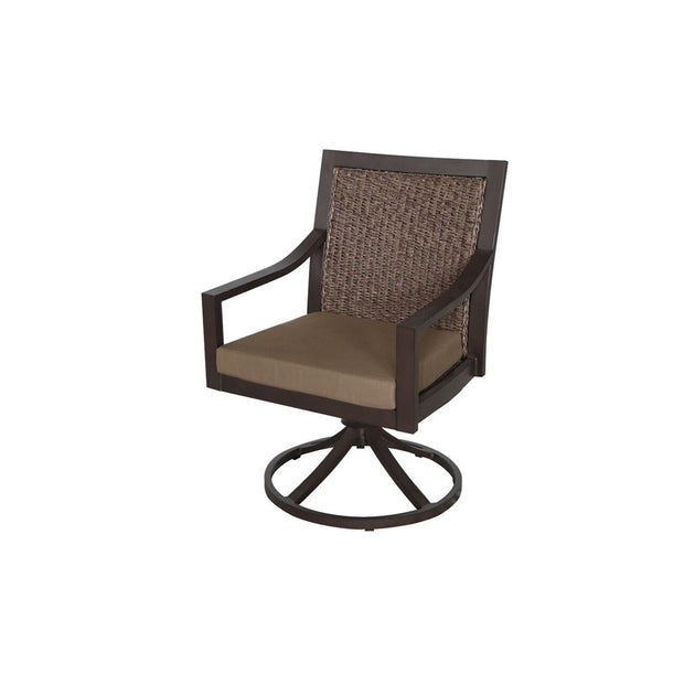 Biscay Wicker Swivel Dining Chair