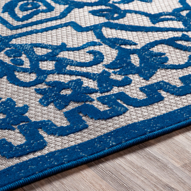 Big Sur Rug in Blue Vine