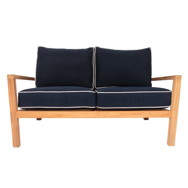 Coastal Teak Loveseat with Sunbrella Cushions