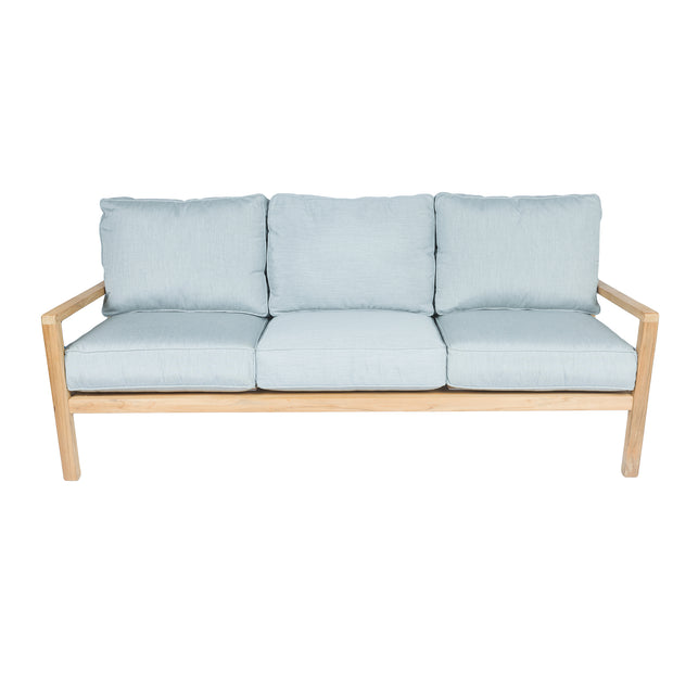 Coastal Teak Three Seater Sofa with Sunbrella© Cushions