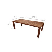 "Comfort 96"" Teak Dining Table"