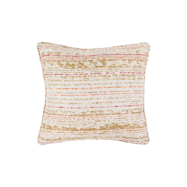 Arie Throw Pillow in Creamsicle