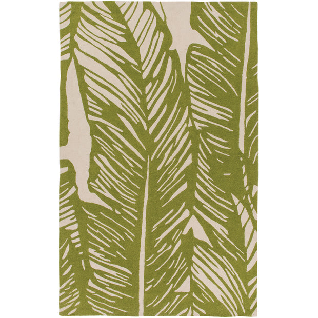Courtyard Outdoor Rug in Palm Print