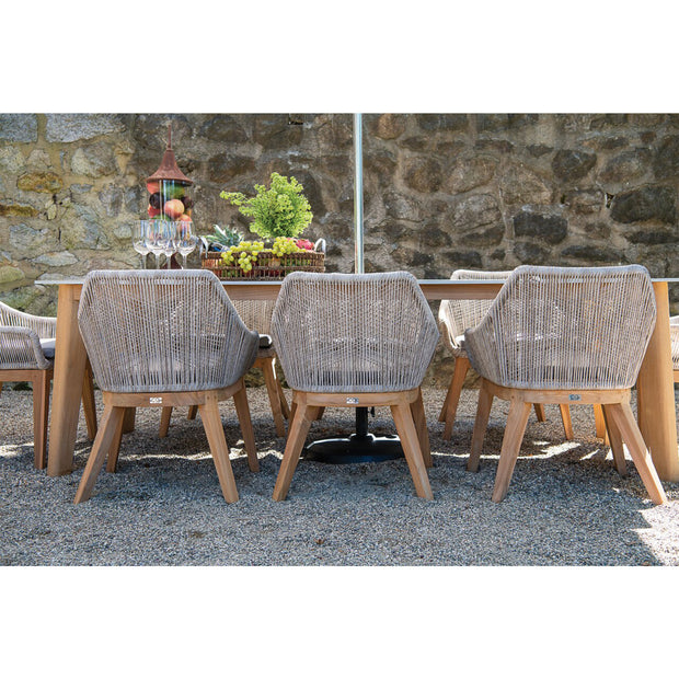 Dalton All-Weather Wicker and Teak Dining Chair (set of 2)
