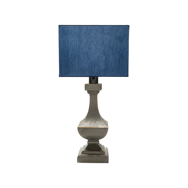 Davis Table Lamp with Blue Shade
